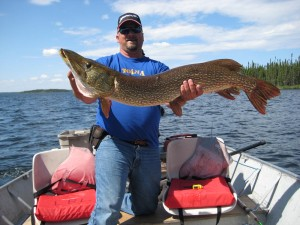 Large Pike Caught on on Reindeer Lake