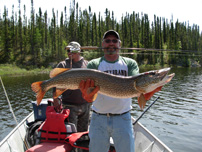 Northern Pike Fishing Reindeer Lake