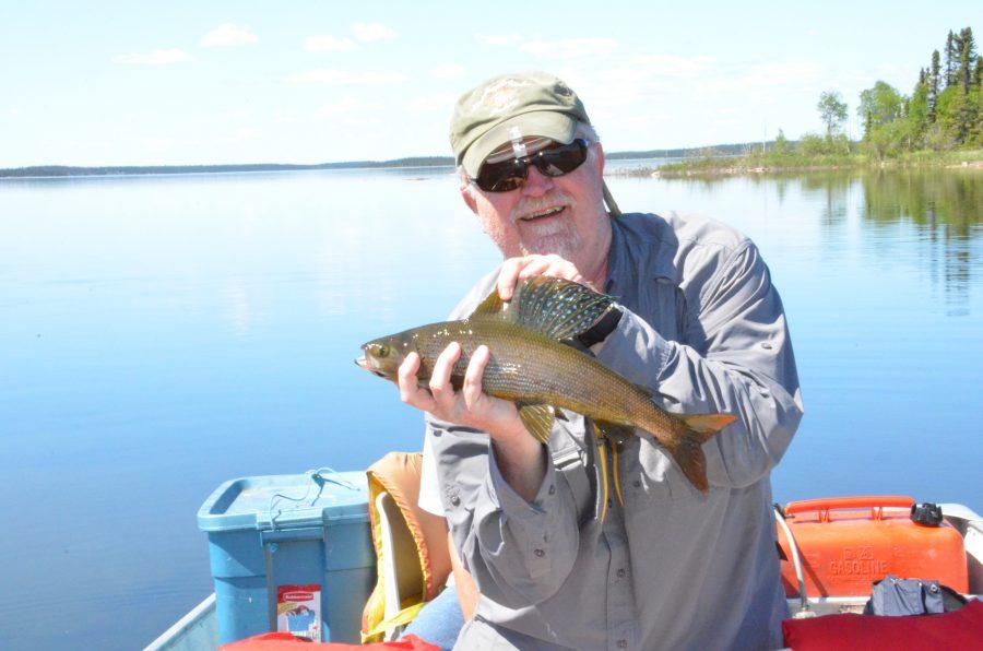 Fishing for Arctic Grayling in Reindeer Lake